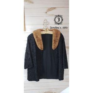 Vintage Coat with Genuine Mink Collar
